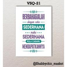 Vasty Hiasan Dinding Kayu Wall Decor Poster Super Quotes VSQ-21
