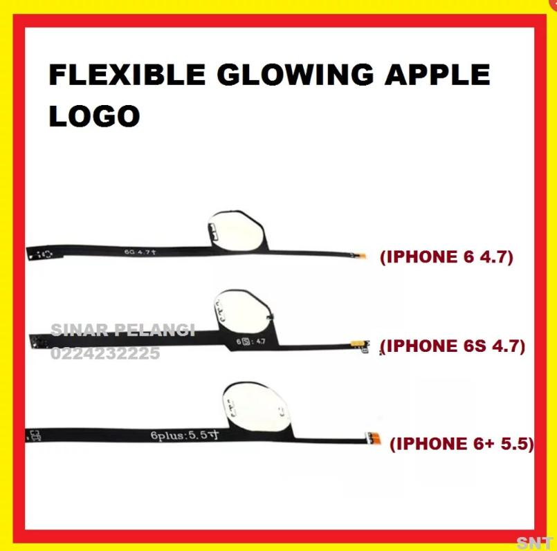FLEXI IPHONE 6 PLUS 5.5INCH GLOWING APPLE LOGO NYALA CAHAYA BERSINAR FLEX FLEXIBLE FLEKSI WHITE PUTIH 907582