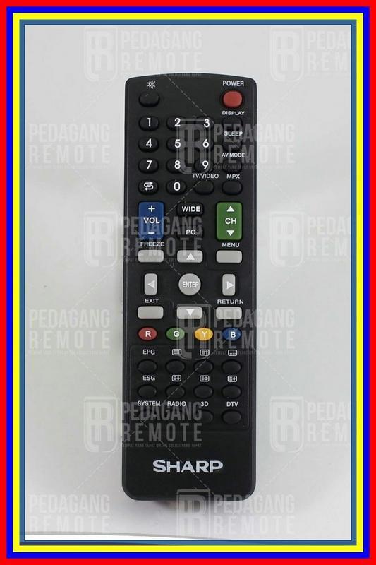 Remot Remote Tv Sharp Aquos 3D Lcd & Led Kw Plasma