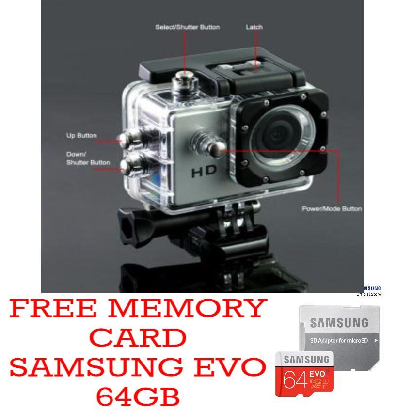 Promo Spesial Sports Action Camera KOGAN 4K HD1080p 18Mp 2.0 inch (Non Wifi) Free Memory card micro SD Samsung EVO 64Gb