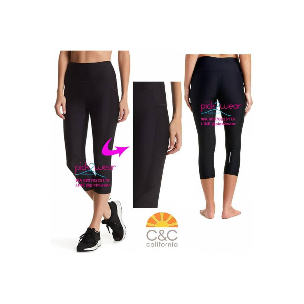 Jual Celana Senam Capri Yoga Gym Zumba Muaythai Black Pocket Limited