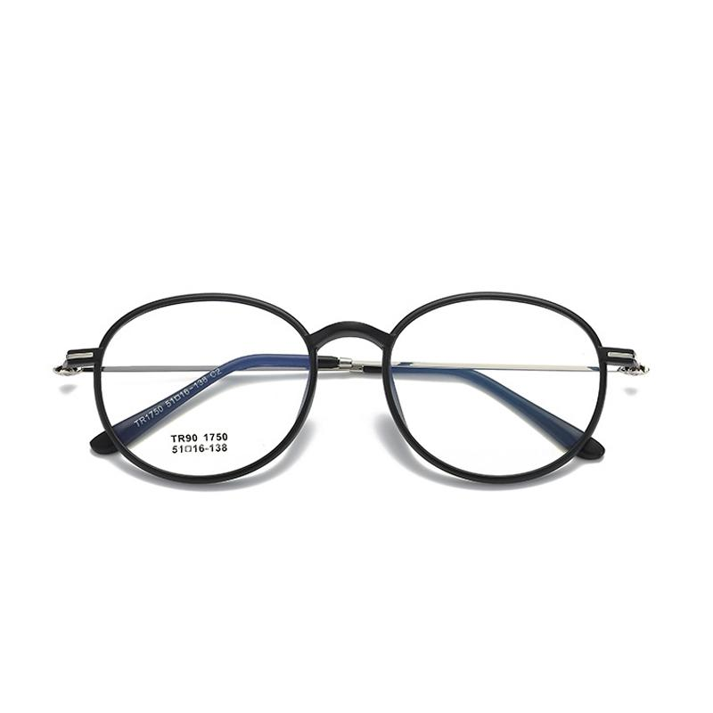Korea Baru Bingkai Kacamata TR90 Ringan Bingkai Kacamata Retro Pria atau Wanita Bulat Kecil