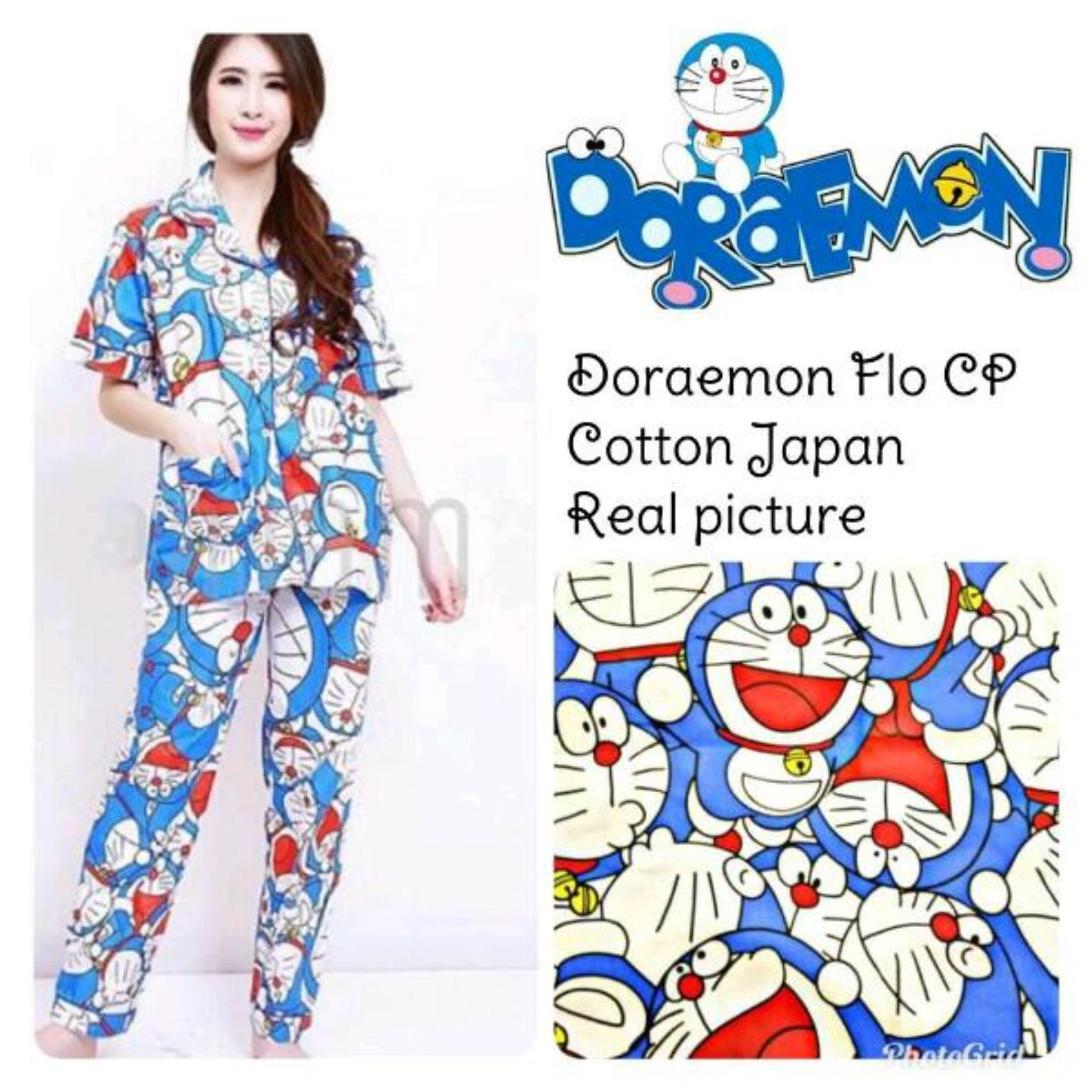 rgs store piyama  baju tidur dewasa kartun doraemon small cp fit to M/L karakter baju tidur