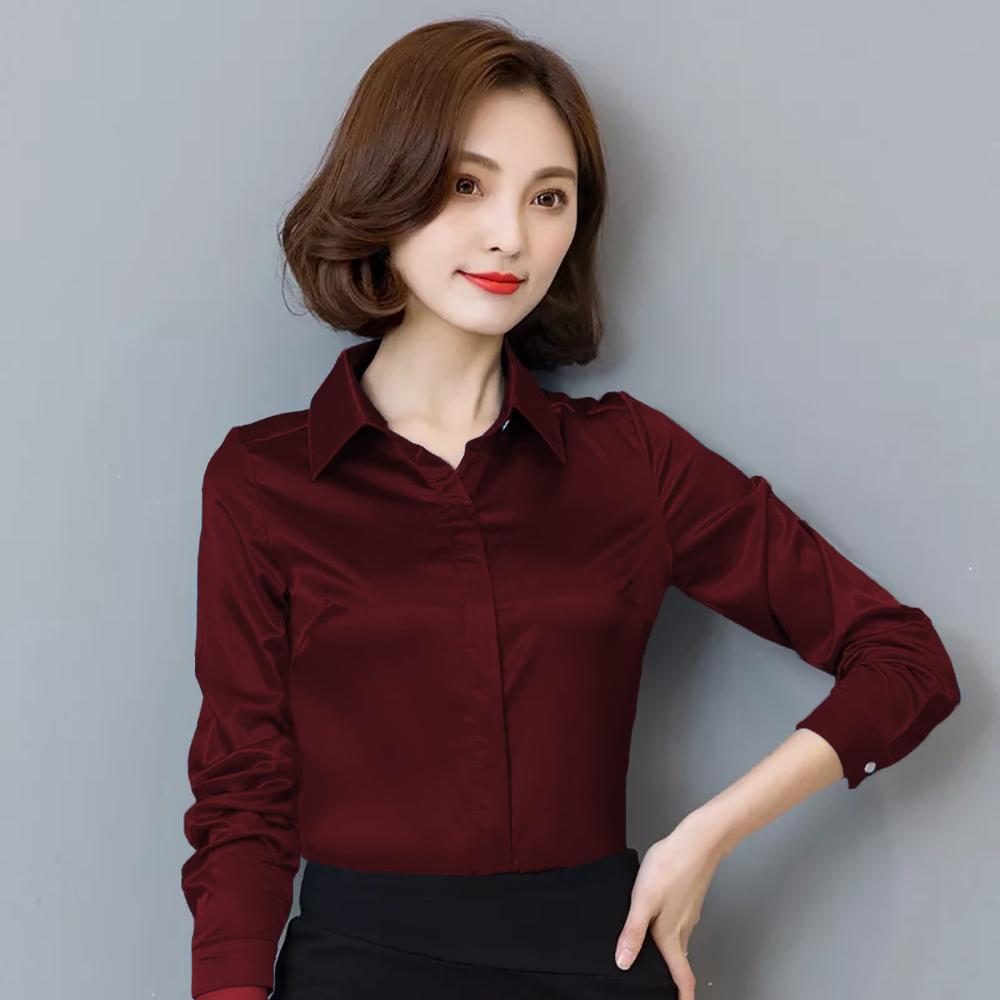 Kemeja Wanita Gaya Korea Lengan Panjang Murah Terbaru - Jfashion Oni By J_fashion.