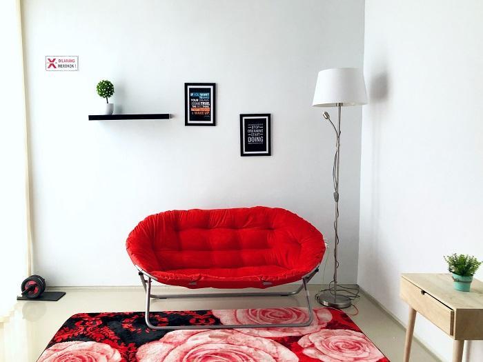 Sofa lipat - Orange / kursi santai / kursi lipat / Furniture