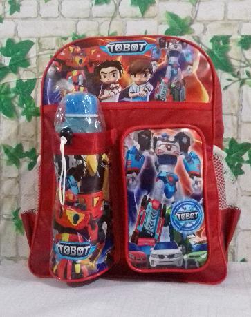 Tas Ransel Anak Sd -Tobot Model Terbaru/murah Tas Anak Sekolah Cahayatas Karakter Tobot Free Tabung Air Random By Cahayatas.