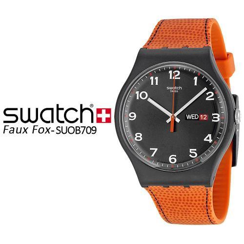 Swatch Jam Tangan Pria Biru Hitam Rubber Hitam Suts401 Sistem Blue ... a05d5857b4