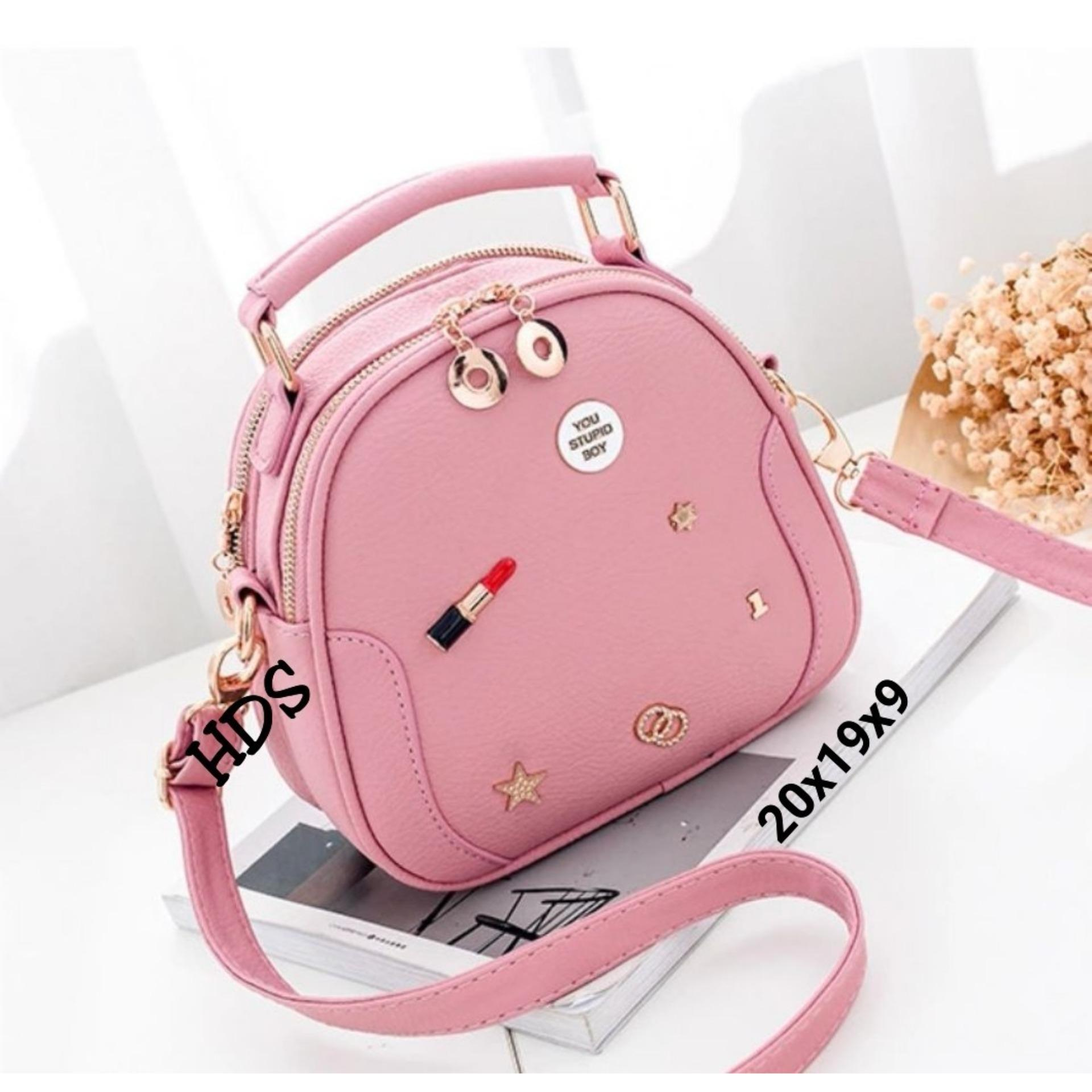Info Harga Promo Berbagai Produk Page 118 Temukan Tas Selempang Wanita Manggo Bags Sling Bag Korean Style Lipstick Flakes Ovale Pink