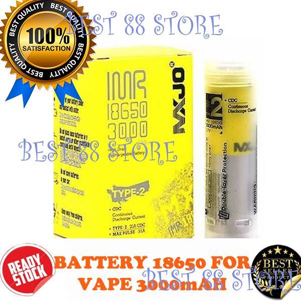 1 PC MXJO IMR 18650 3000mAh 35A Flat Top Battery Authentic Baterry ( Baterai untuk Vape / Powerbank , dll )