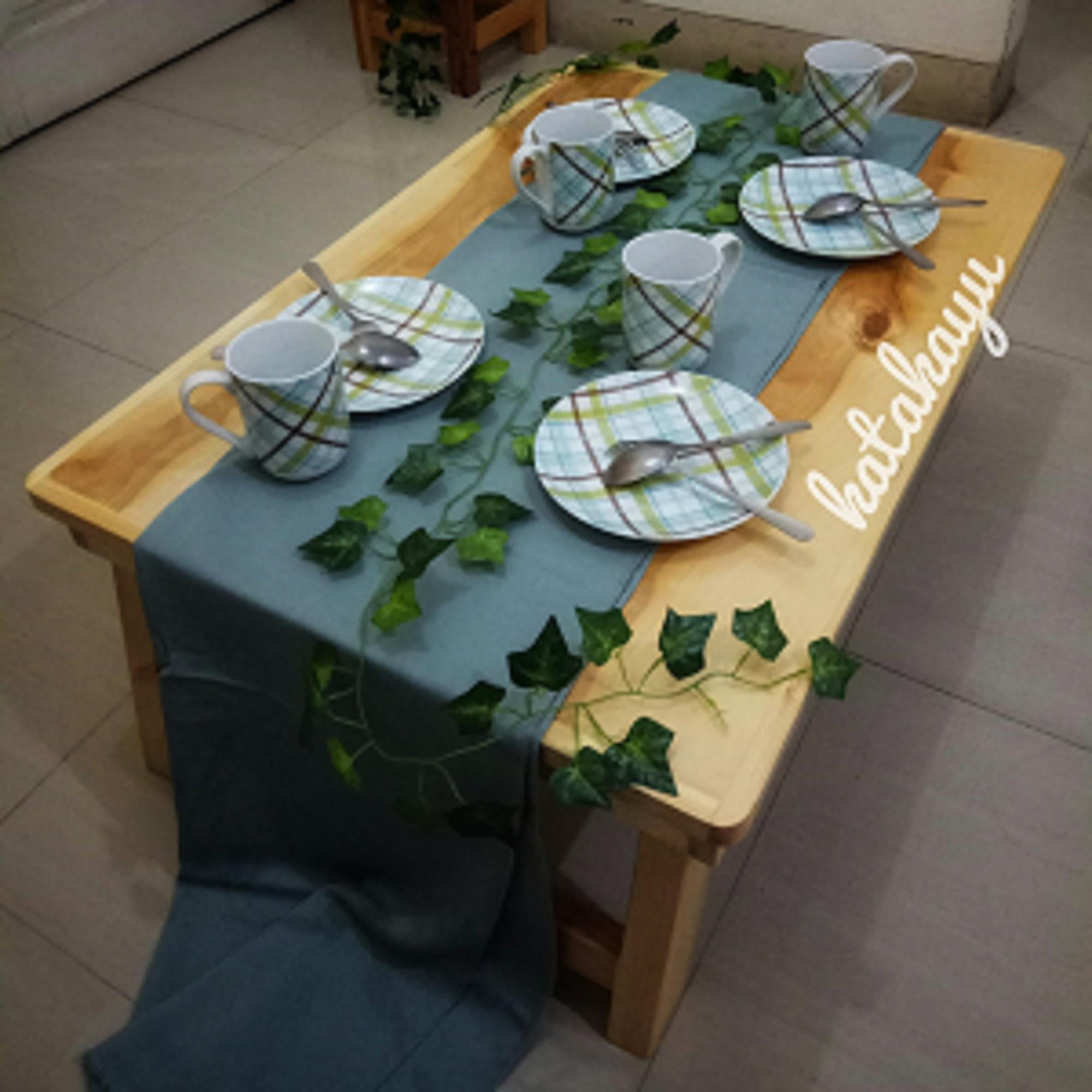 Meja Kayu Lipat Besar ( Meja makan Lesehan ) Meja Kayu Jati Belanda Serbaguna