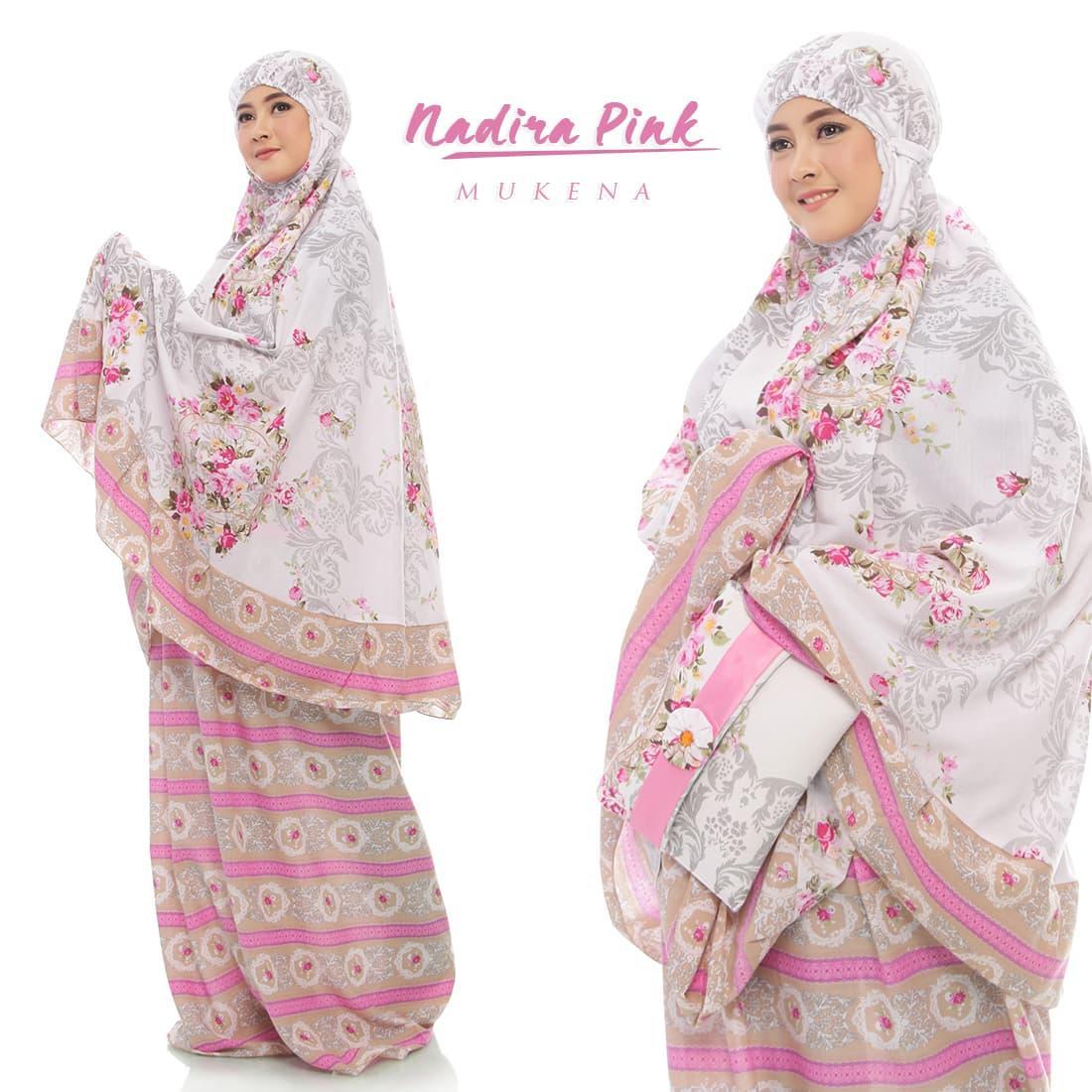 Mukena Nadira Dewasa Fashion Mukenah Muslimah Katun Rayoon Jumbo  Perlengkapan Shalat Para Muslimah - Rukoh Muslim Dewasa Murah Perlengkapan Beribadah Agama Islam -