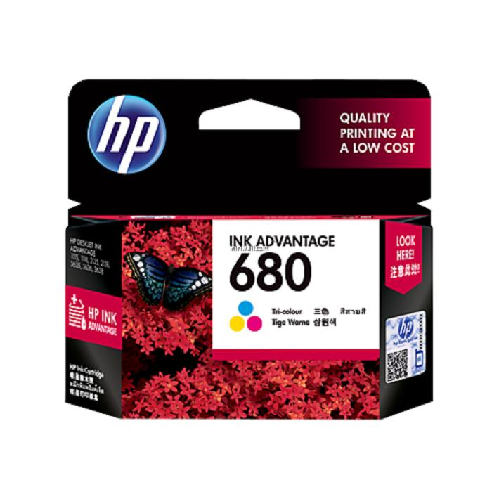 Tinta Printer HP 680 Tri-color Ink Cartridge