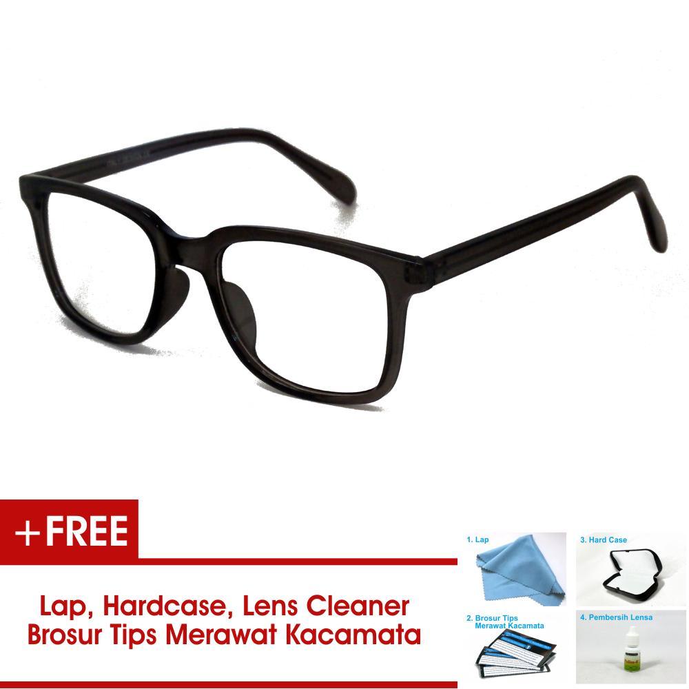Frame Kacamata Pria Wanita Korea Vintage 75045 Abu - Abu Bisa Dipasang Lensa Minus Di Optik Terdekat