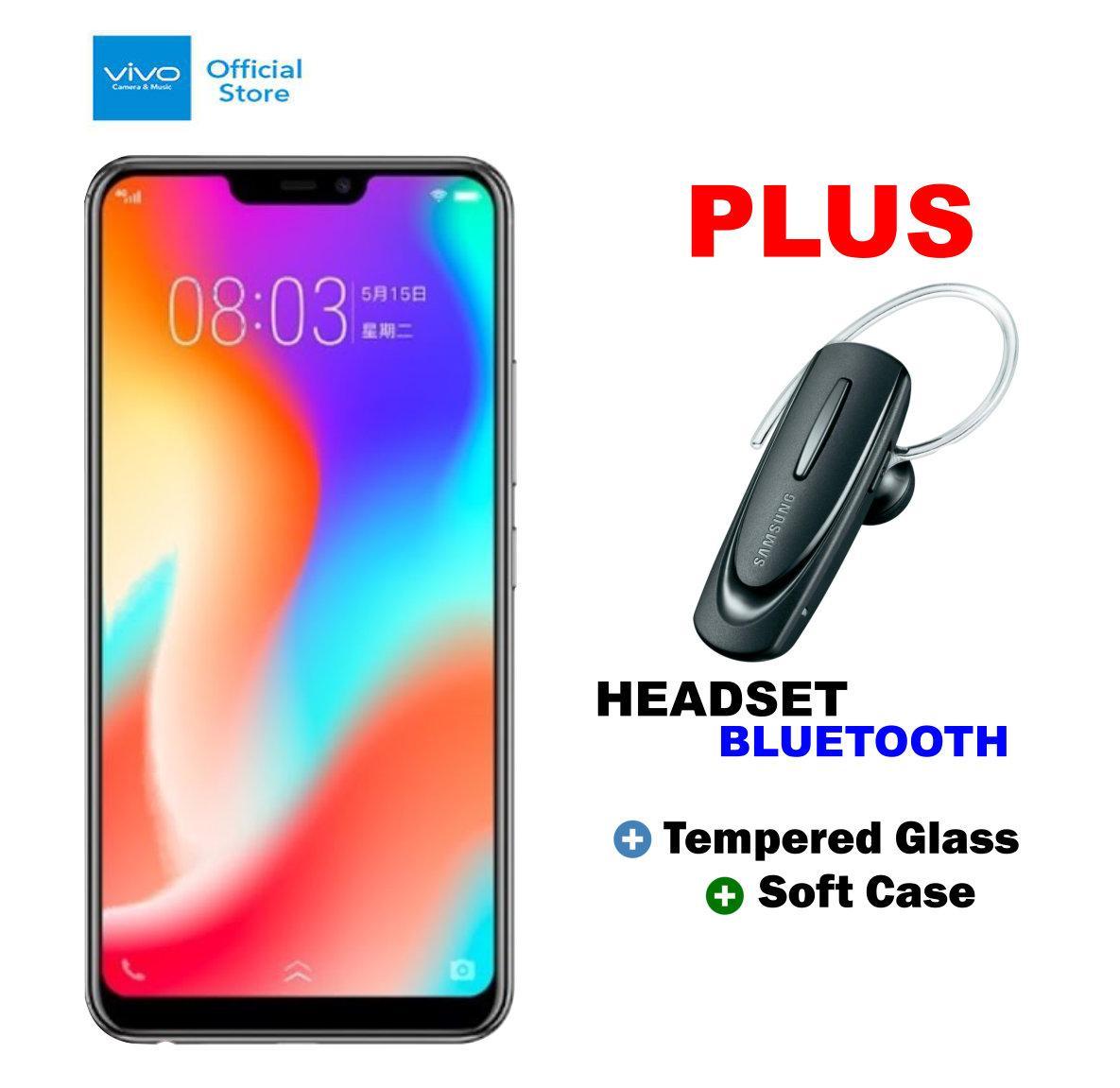 Vivo Y83 4/32GB - Black Plus Headset Bluetooth