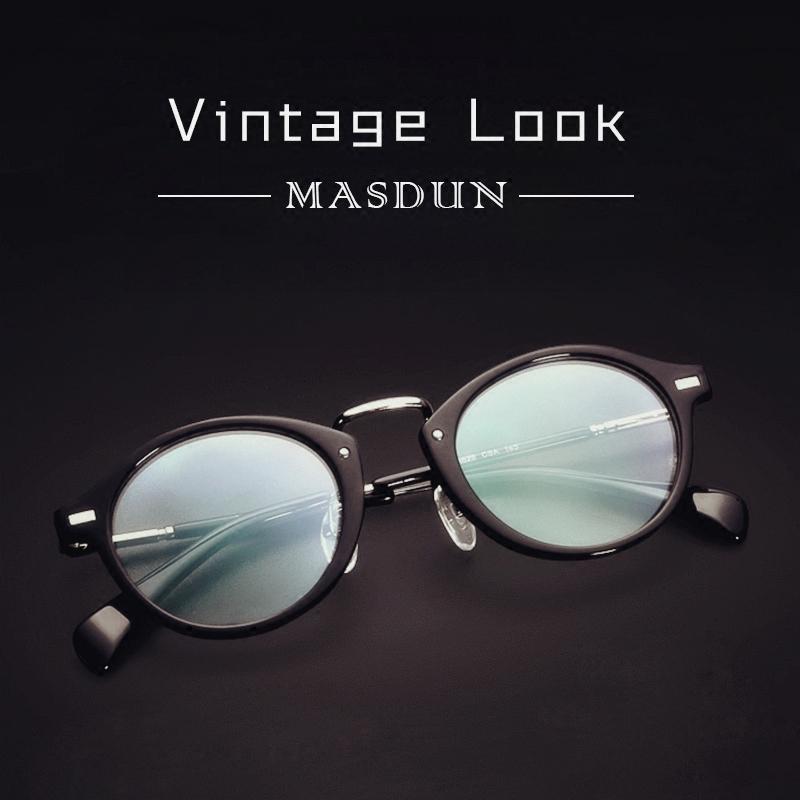 Orang Trendi Frame Kacamata Sastra Bulat Kecil Bingkai Kacamata Hitam Pria