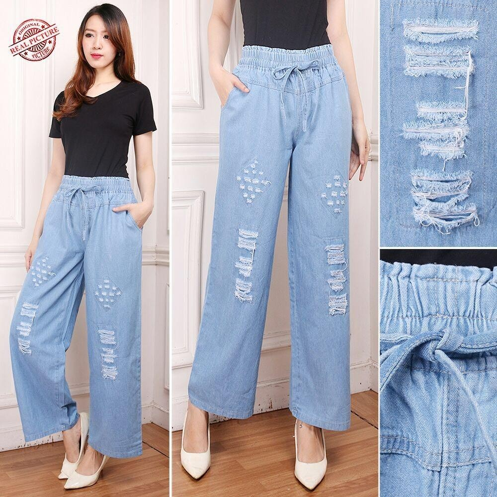 Celana pendek jeans jumbo wanita short pant Tiana - biru tuaIDR100800. Rp 100.800