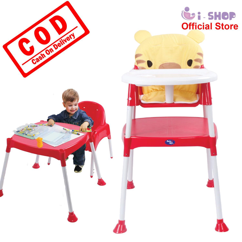 i.shop Baby Safe High Chair HC03B / Kursi Makan Bayi / Meja Kursi Makan Balita / Kursi Tinggi Bayi