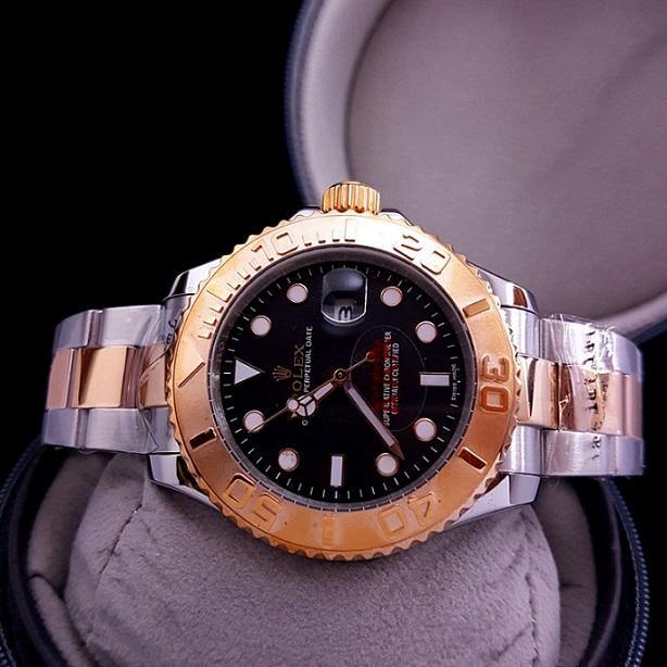 Jam Pria Rolex_Yacht Master Date Automatic / Silver Combi Gold
