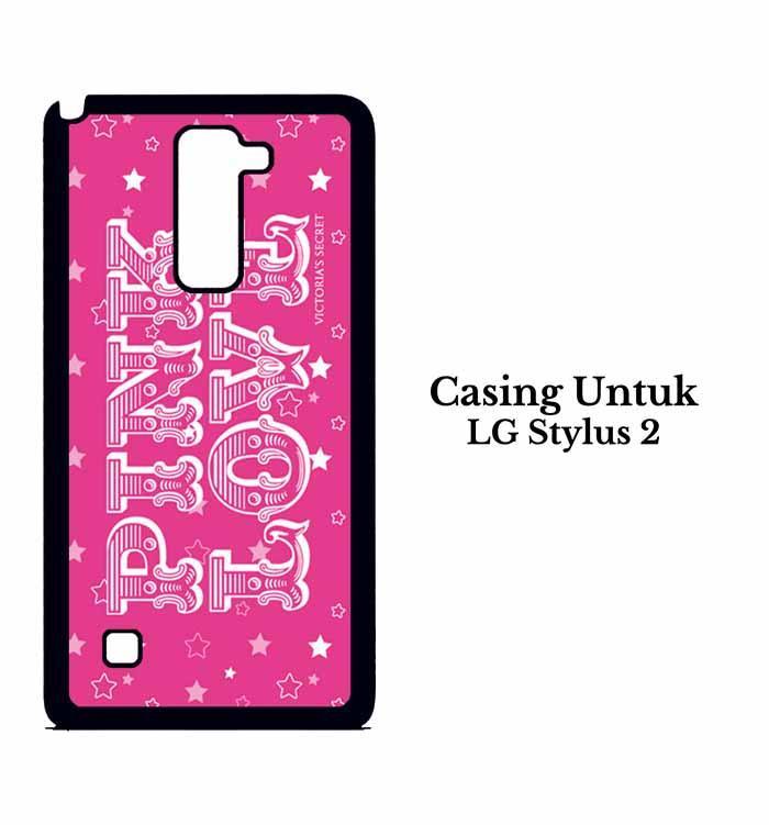 Casing LG Stylus 2 victorias secret pink Custom Hard Case Cover