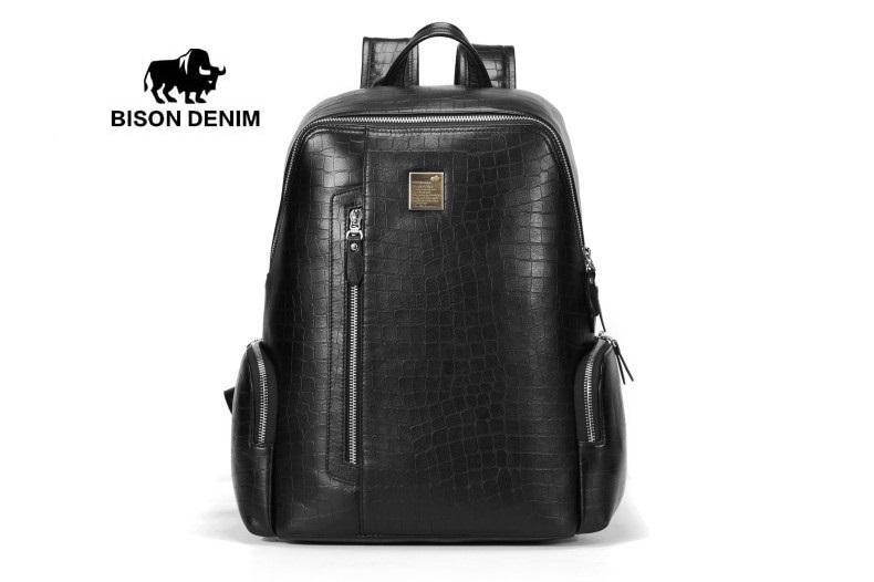 Bison Denim-Tas Ransel   Tas Backpack Kulit Sapi Asli Original Bison Denim  Backpack ( 4de6fbb7c6