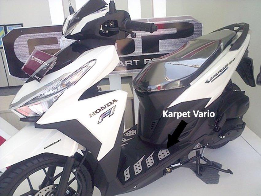 Spesifikasi dari Monster Karpet Motor New Vario 125 atau Karpet New Vario 150 Techno Tahun 2015-Terbaru - Putih