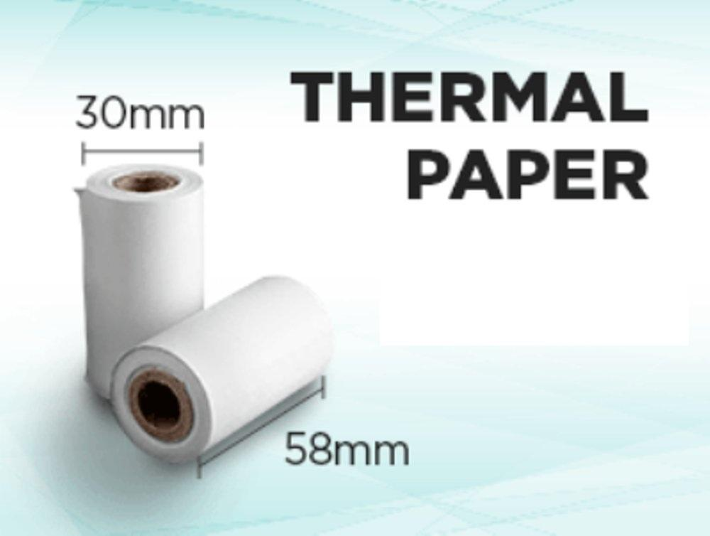 Kertas Struck Printer Thermal 58 X 30mm Paket Isi 10 Roll By Vq Technology.