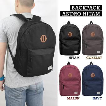 Harga Penawaran VONA Andro - Tas Ransel Backpack Gendong Punggung Laptop Bag 13 Inch Daypack Unisex Pria Wanita Waterproof Anti Air Kanvas Parasut Travel ...
