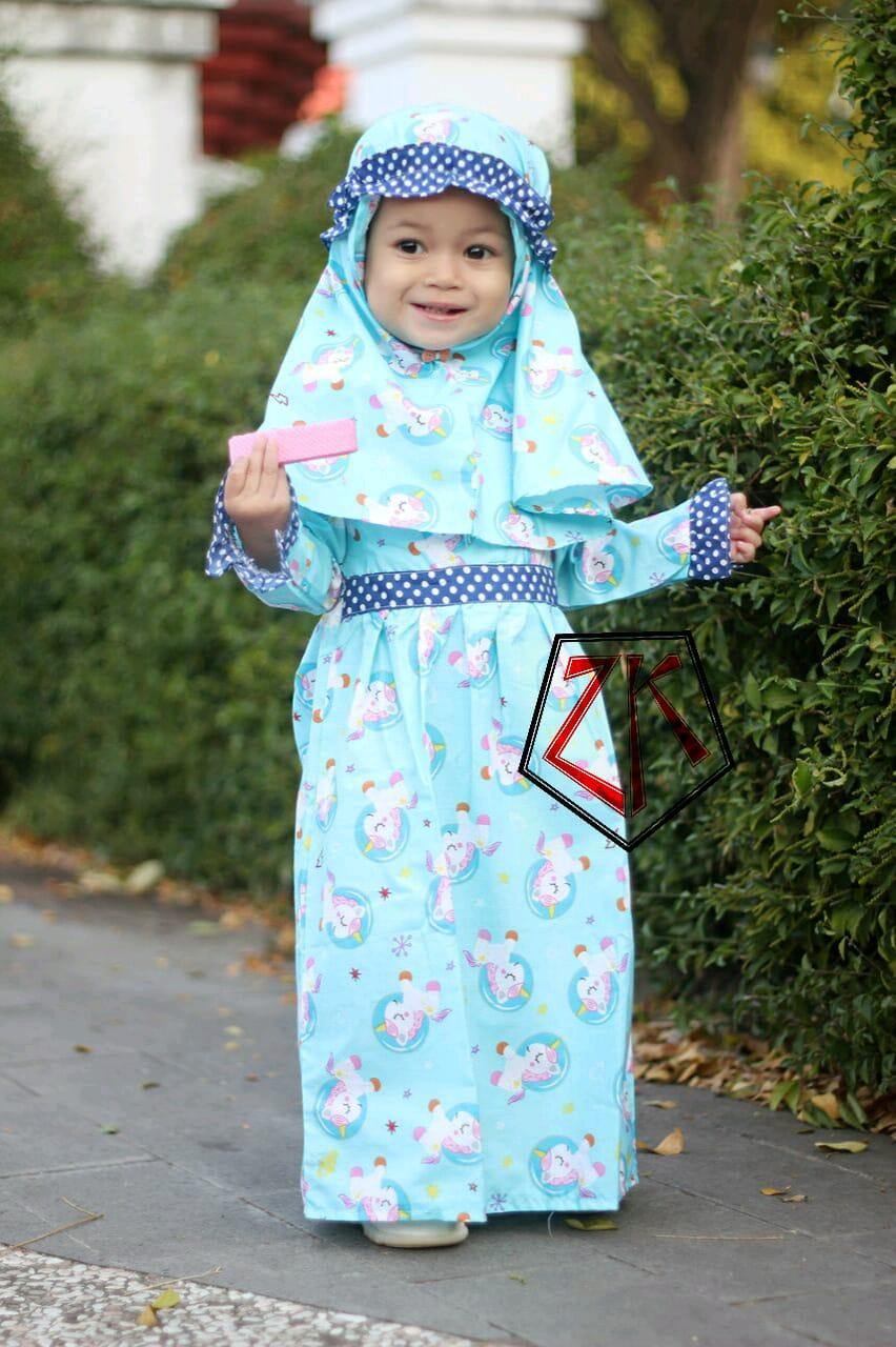 GAMIS ANAK BAJU MUSLIM SETELAN HIJAB KIDS (1-5 TAHUN)