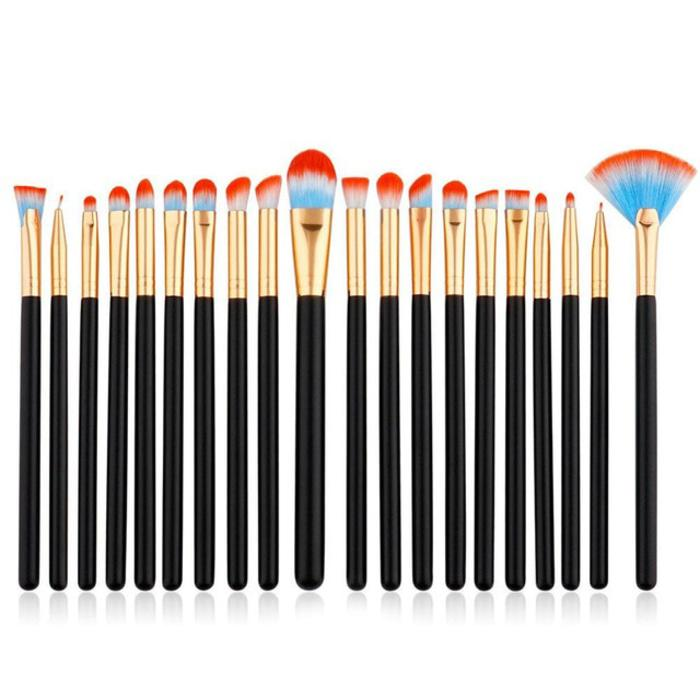 Eye Make Up Brush Kuas Makeup Mata - 20 PCS