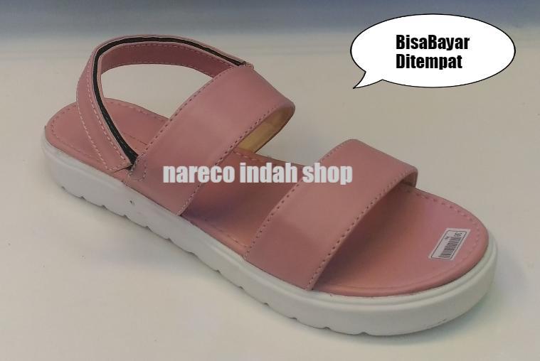 Sandal wanita Slip On Wedges murah Sandal Wanita Model Terbaru Nareco Indah Shop Tali Warna Kokop Wanita Cantik