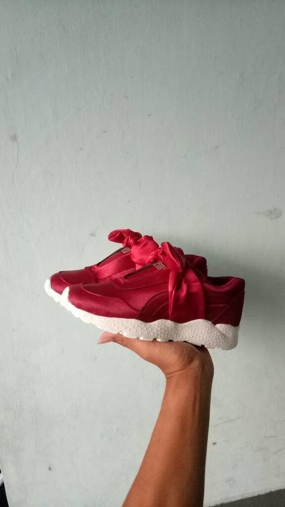 Sepatu Sekolah Sepatu Jalan Jalan Sepatu Kets Puma Fenty Maroon