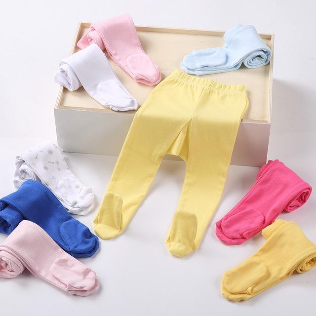 Wulanda 4 pcs celana legging ketat anak bayi carters catton rich warna polos tutup kaki