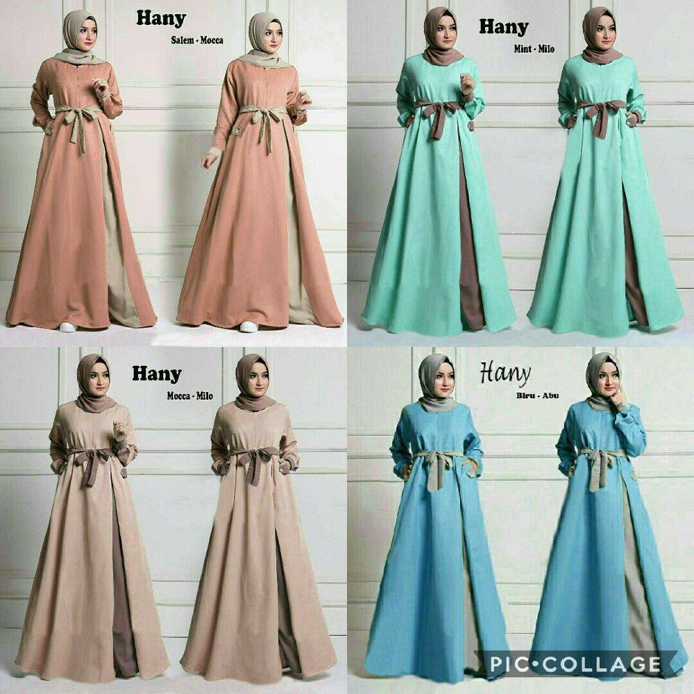 Hanny Hijab Maxi Dress plus Pasminah di lapak anayanda shop anayandashop
