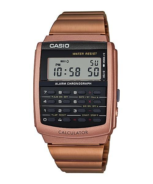 Harga Diskon!! Casio Calculator Kalkulator Jam Tangan Rose Gold Ca-506C-5A Original - ready stock