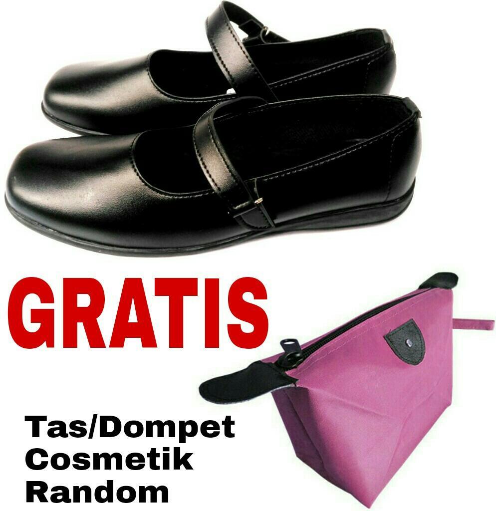 Sooko - Sepatu Pantofel Wanita Bertali / Sepatu paskibra / sepatu Kerja / Sepatu Formal / Sepatu kantor-Kantoran / Sepatu sekolah hitam Kulit Sintetis
