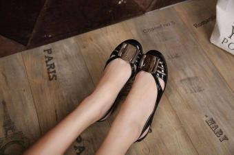 Pencarian Termurah Rafishashop-Flat Shoes Jelly Classic Feragamo-[Black] harga penawaran - Hanya Rp53.430
