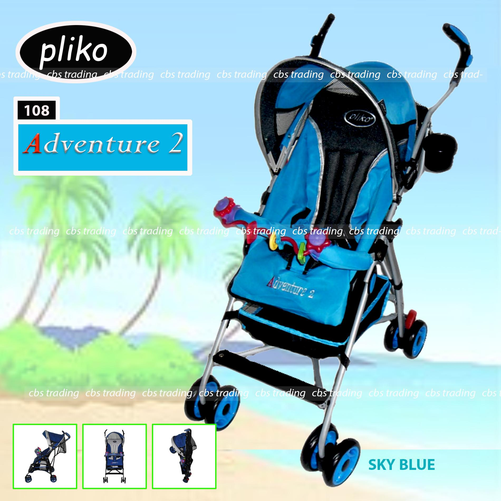 Pliko Stroller New Buggy Adventure 2 S-108 Kereta Dorong Bayi - Biru
