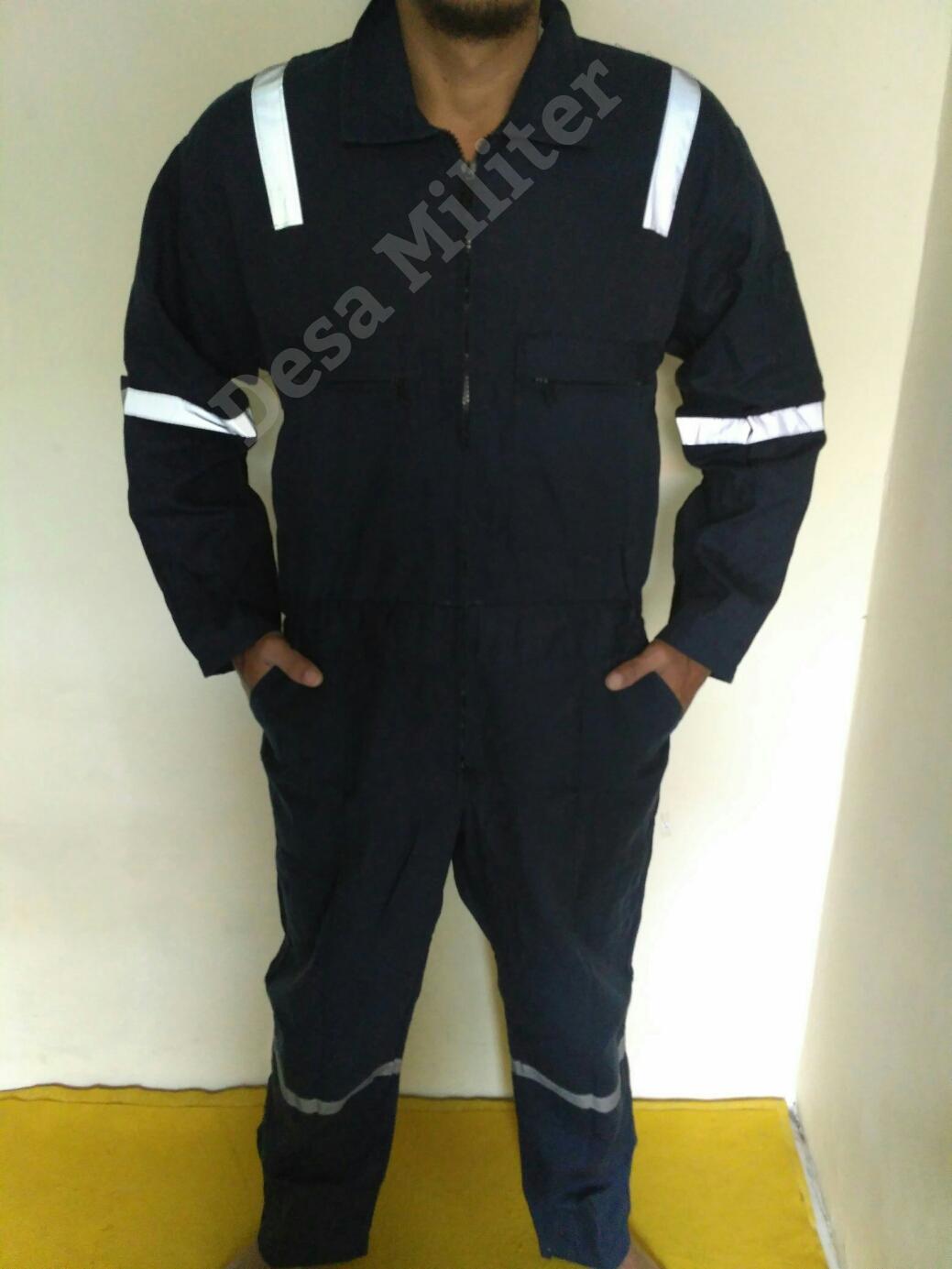 Wearpack Biru Dongker Scoutlight - Katelpak - Overall - Seragam Safety - Seragam Bengkel - Kemeja  Proyek