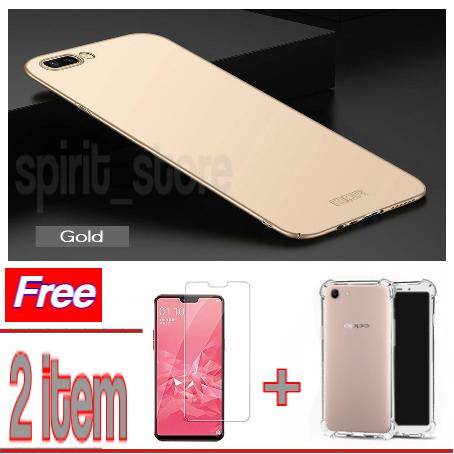 Hardcase case For Oppo A3S Baby SKin Slim + Tempered Glass protecktor Oppo A3S + Case