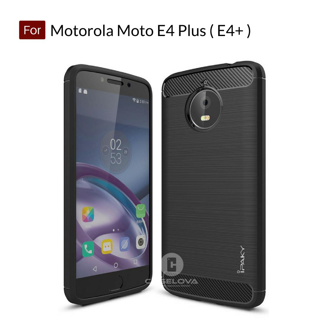 Caselova Premium Quality Carbon Shockproof Hybrid Case for Motorola Moto E4 Plus ( E4+ ) - Black