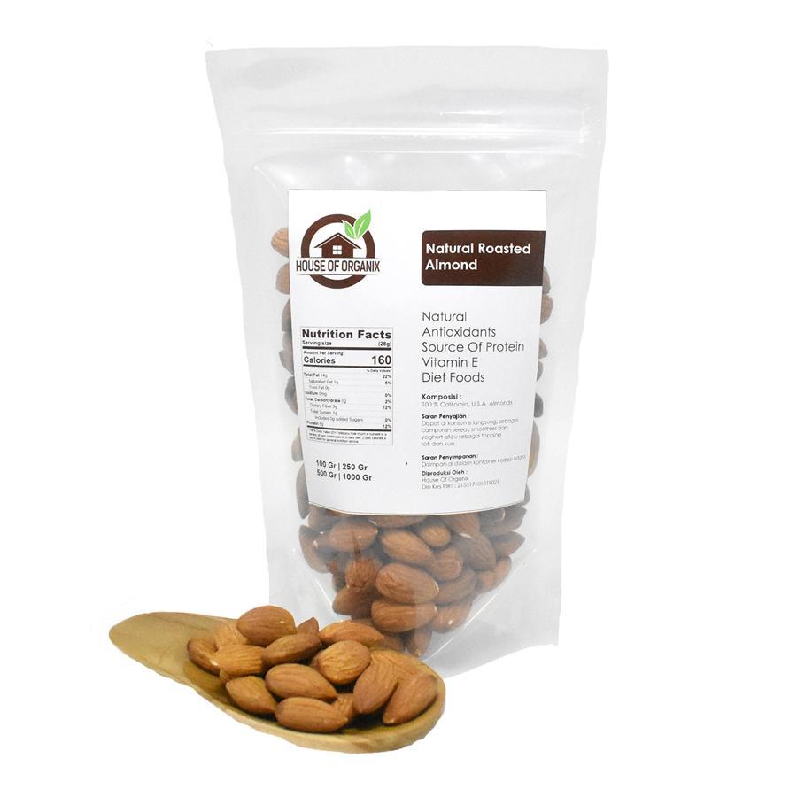 Berbagai Varian Kacang Terlengkap Pistachio 500 Gram Natural Roasted Almond 250 Gr