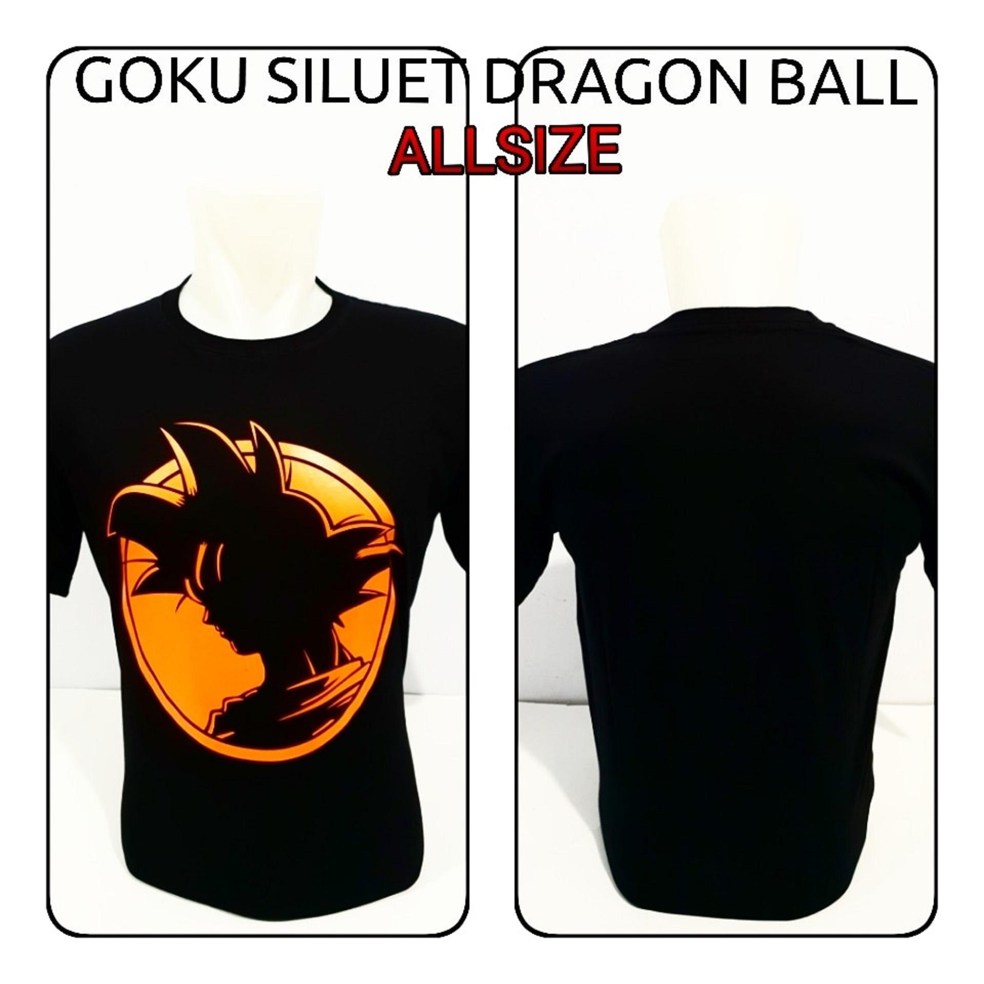 Hendfaris Distro Center - T-Shirt Distro - Kaos Pria/Wanita - Goku Siluet