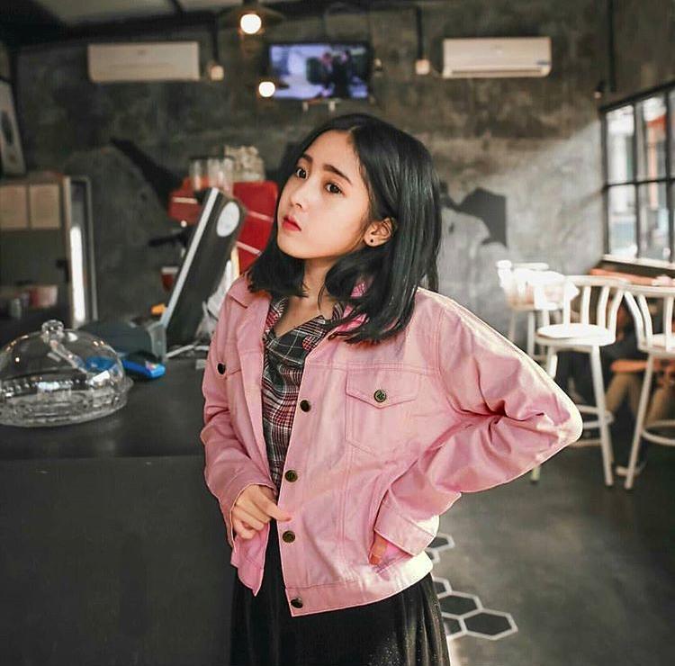 Oversized Jacket Jeans Denim ZARA Jaket Pink Bio Blitz Tebal Import oversize