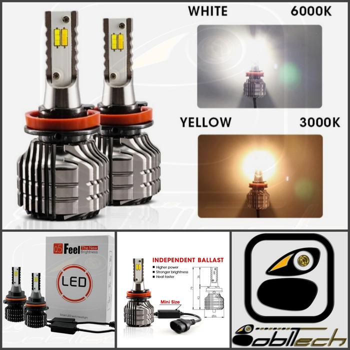 Best Quality Lampu Headlamp Foglamp Mobil Led Dua Warna H11 H7