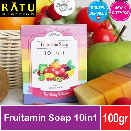 Fruitamin BPOM - Gluta Soap 10 in 1 Fruit Vitamin OriginalIDR15250. Rp 15.900 [Body Culture] sabun ...