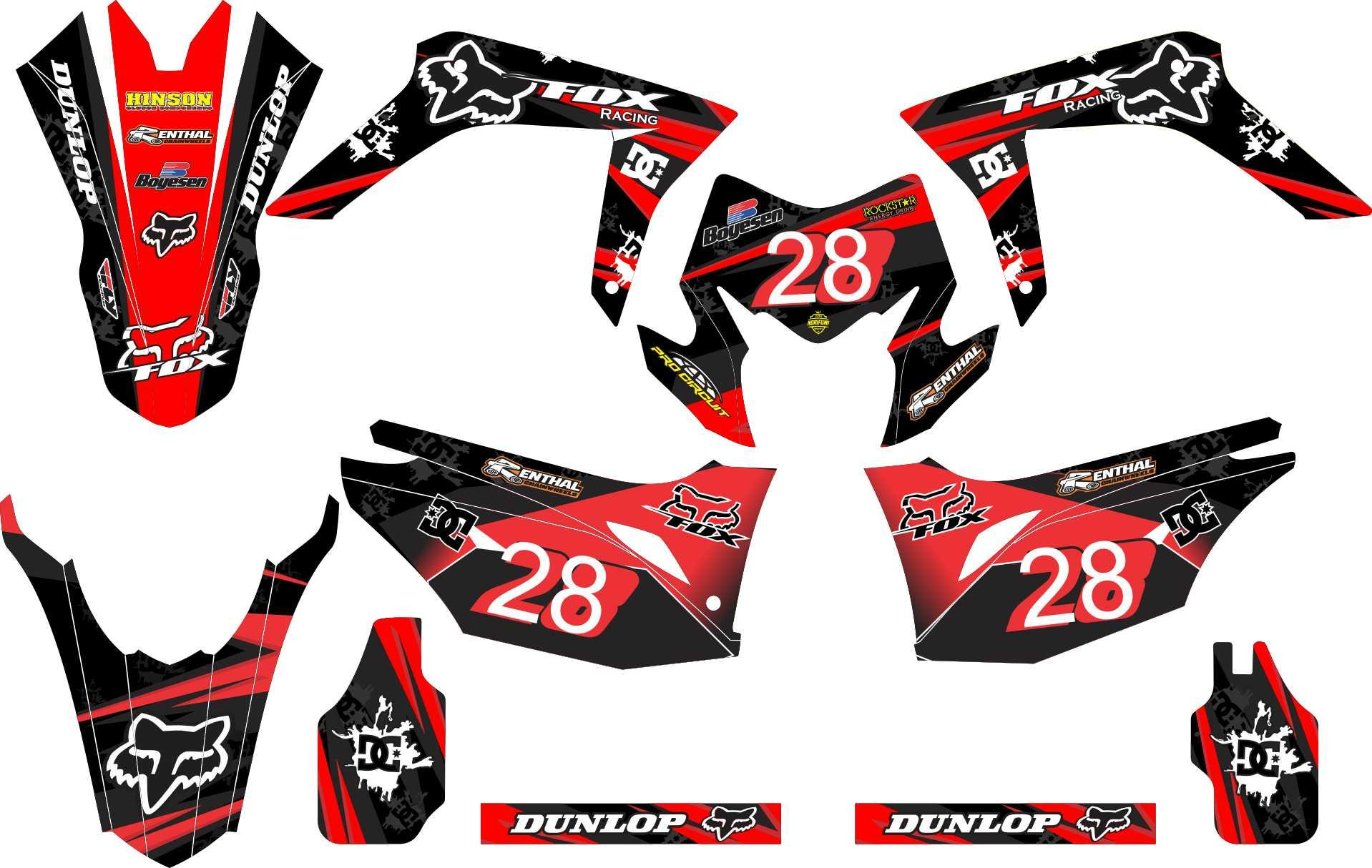 Stiker Motor Crf 150 L Fox Grade A By Master Decal.