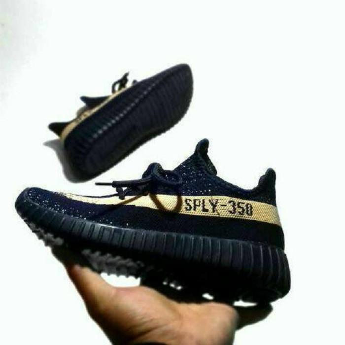 Sepatu Wanita Adidas Yeezy V2 SPLY-350 Hitam - Kuning