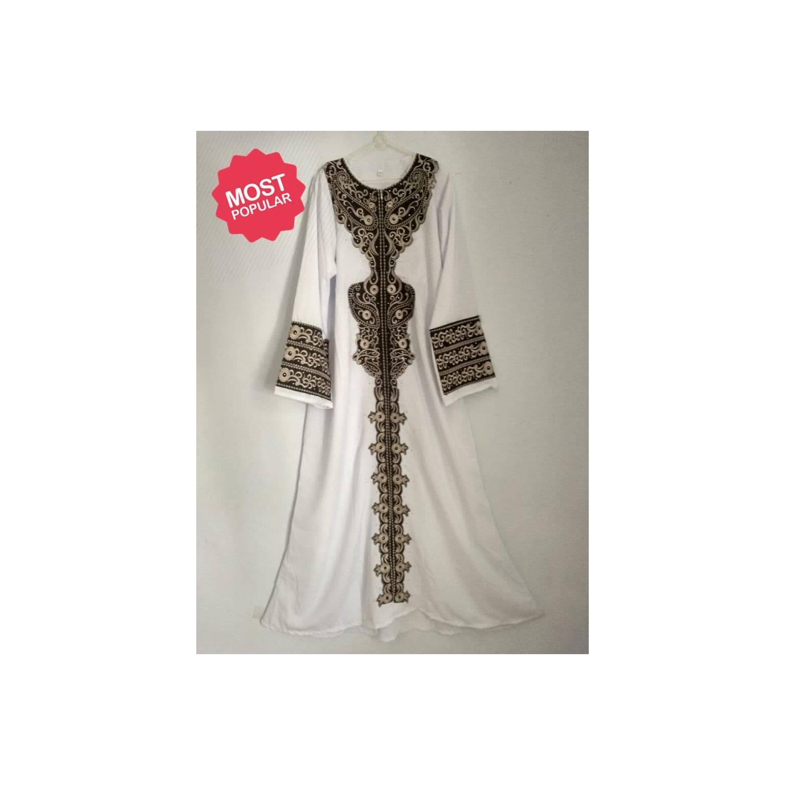 TERLARIS Fashion Mslim ABAYA / JUBAH / GAMIS SINGAPORE SWAROSKI KAIN