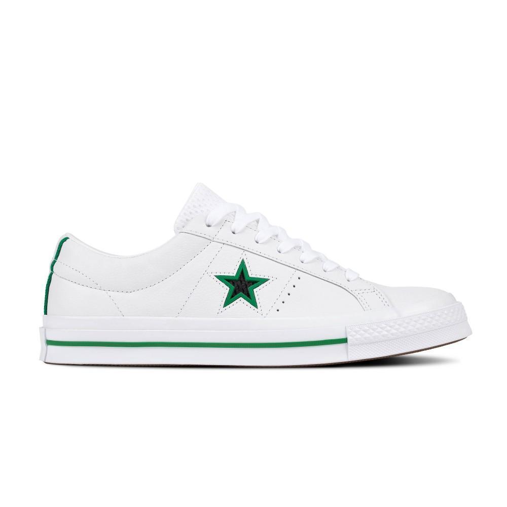 Converse Sepatu Kulit One Star Ox Pria - Putih