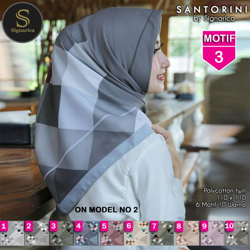 Hijab Segi Empat SANTORINI 3 By SIGNARICA - Jilbab kerudung MOTIF